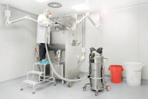 Nilfisk aspiratore industriale monofase per polveri VHS 110 CR per l'uso in camere bianche